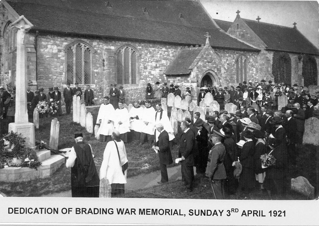 Brading war memorial 1921
