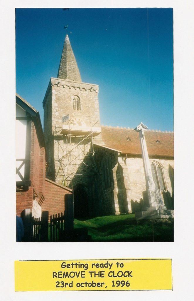 St Mary's clock 1996