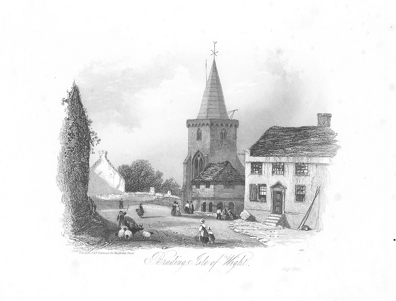MP1125 Engraving of St Mary's 1840