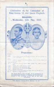 Programme for the Brading celebration for the Coronation of King George V1. 1937.