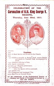 Programme for the Brading celebration for the Coronation of King George V. 1911.