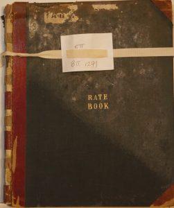 Brading Rate Book. Assessment for Relief of Poor October 1884. Brading, Sandown, Lake, Shanklin and Bembridge.