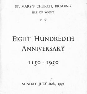 St Mary's Brading eight hundredth anniversary booklet 1950