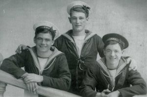 Ernest William FOWLER (on the left), KIA 6 Oct 1917 on HMS Begonia.