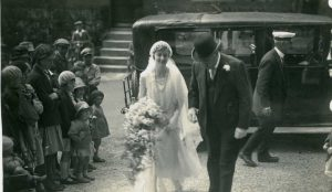 Wedding of Eileen JOYNER and Charles PLUMBLEY at St Mary's church, 1931.
