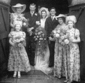 Hugh Salmon REDFERN and Thelma Nancy BATTEN wedding 1952.