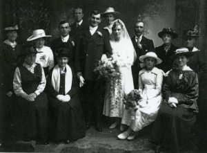 Marriage of Arthur BARNES and Edith HOLBROOK, 26 Oct 1918.