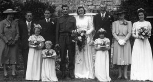 Marriage of William LEGG and Joan BARNES at St Mary's 1943.