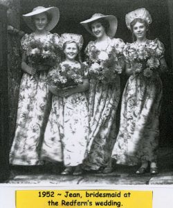 Bridesmaids at the wedding of Hugh Salmon REDFERN and Thelma Nancy BATTEN 1952