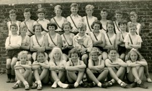 Brading school athletics team c. 1955