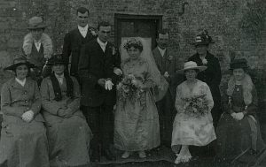 Marriage of Charles Edward BARNES and Amy Ethel Louise ARNOLD in 1918.