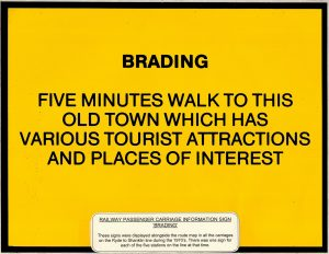 Carriage information sign for Brading 1970's