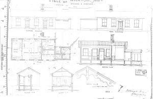 Architects drawing Brading Station 1864