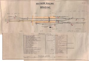 Station track and points diagram 1928-1957