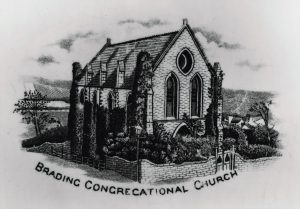 Brading Congregational Church. The Mall. Transfer print on china.
