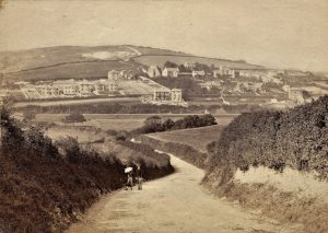 Brading . View from Marshcombe Shute towards Houses being built on New Road. C. 1880. Photograph.