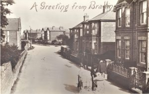 Brading. New Road looking towards Station Road. Postcard.
