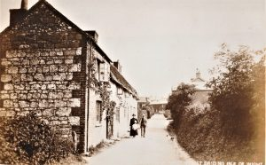 Brading. West Street looking towards the Bull Ring. Postcard.