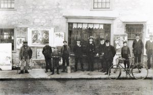 Brading. High Street / Bull Ring. Deacons shop used for the Liberal Party Committee Room. Sir Godfrey Baring elected Isle of Wight M.P. in 1906. Now 74 High Street. Photograph.