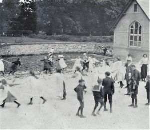 Brading National School opposite St Mary's Church. Photograph.