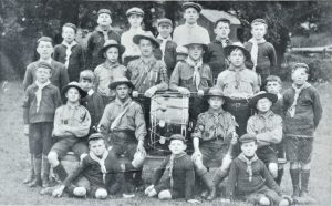 Brading Boy Scouts 1917 formed by Rev. D S W Nichols in 1910. Photograph.