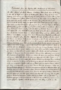 Extract of will of William Blow, 1st September 1808