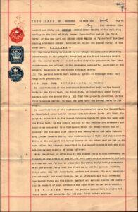 Deed of Exchange between George Walker (Grocer) and George Derek Walker for properties at Brading, 1951.