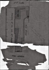 Plan of property from an 1876 deed showing property of Walkers Stores, Bull Ring.