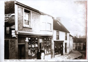 Photograph of Redstone's shop 1863 to 1903.