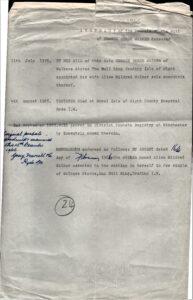 Abstract of probate of will of George Derek Walker, December 1965