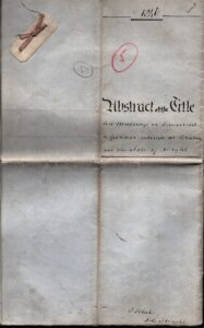 Abstract of the Title of Messuage or Tenement and Gardens at High Street Brading, 1846