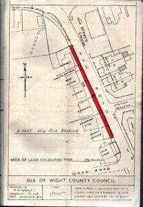 BTT 1567-6. Conveyance of land in New Road to Isle of Wight Council, September 1977, for widening highway.