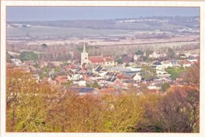 Undated view across Brading from the Down