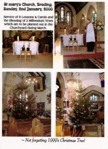 St Mary's Church service, January 2000