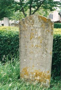 2003 photo of gravestone in St Mary's Churchyard of Selenia Brown.