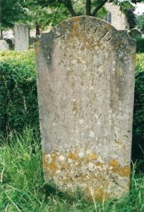 2003 of gravestone in St Mary's Churchyard of Henry Maurice Brown.