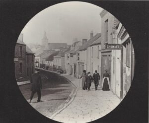 View of the High Street an early lantern slide.