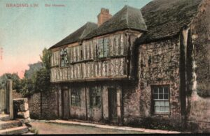 Postcard Brading old houses in Quay Lane (wax museum). SB 015.