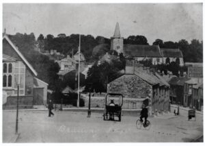 Photo of Brading showing Bull Ring, New Town Hall, High Street, undated. SB 020.