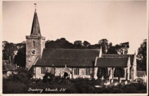 Postcard of Brading Church. SB 022.