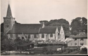 Postcard of the Parish Church Brading. SB 023.