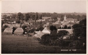 Postcard postmarked 1926. View across Brading West Street with hayricks. SB 027.