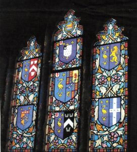 Photo of Oglander stained-glass window at St Mary's church. SB 032.