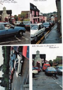 Photos of traffic problems from Wax Museum c 1990. SB 033.