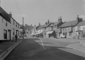 Brading Bull Ring c.1950 with detail of Vacuum Chimney Sweeping vehicle.